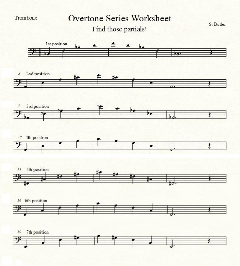 Overtone Series Trombone